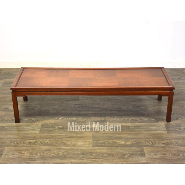 Mid Century Walnut Coffee Table For Sale - Image 10 of 10