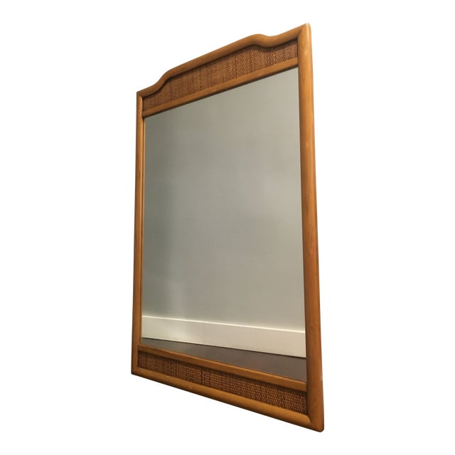 French Indochine Style Mid Century Pier / Console Mirror (4 Ft) For Sale - Image 12 of 12