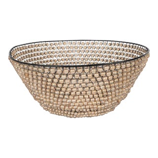 Modernist Basket with an Abundance of Translucent Beads by Kim Seybert For Sale