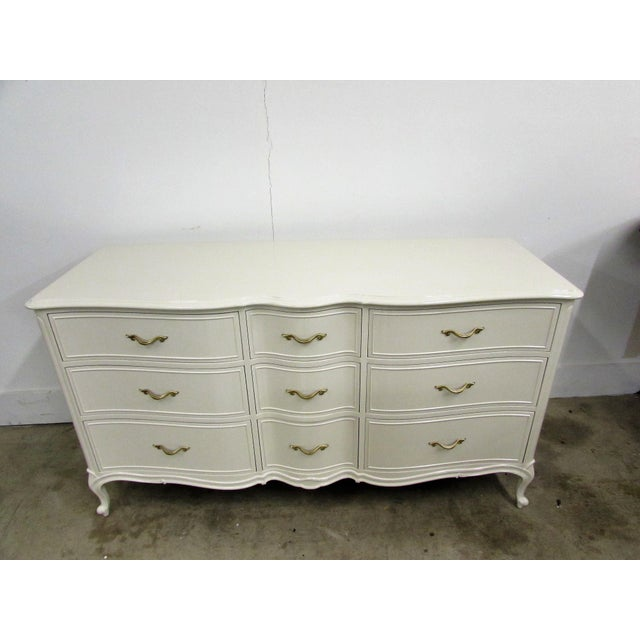 Drexel French Lacquered Chest of Drawers - Image 9 of 10