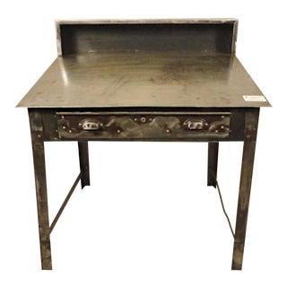 Refinished Industrial Factory Slant Desk For Sale