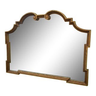 Wide Labarge Style Gold Hollywood Regency Mirror