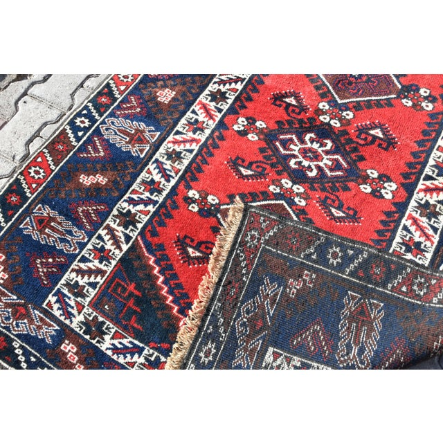 1980s Turkish Oushak Aztec Anatolian Tribal Hand Knotted Wool Carpet For Sale - Image 11 of 12