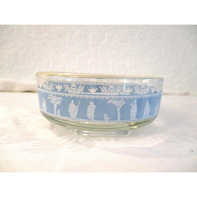1950s Mid-Century Blue Grecian Bowls- A Pair For Sale - Image 5 of 7