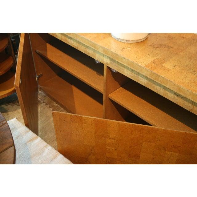 1960s Mid-Century Modern Cork Two Door Cabinet For Sale - Image 4 of 10