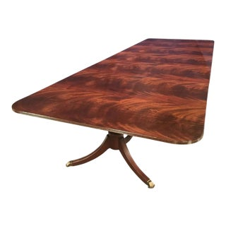 Leighton Hall Made-To-Order Crotch Mahogany Dining Table For Sale