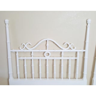 Vintage Kensington by Drexel Twin Faux Bamboo Headboards - a Pair Preview