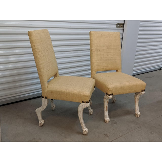 These wonderful chairs were custom made not long ago by a well known and respected Detroit interior designer. They...