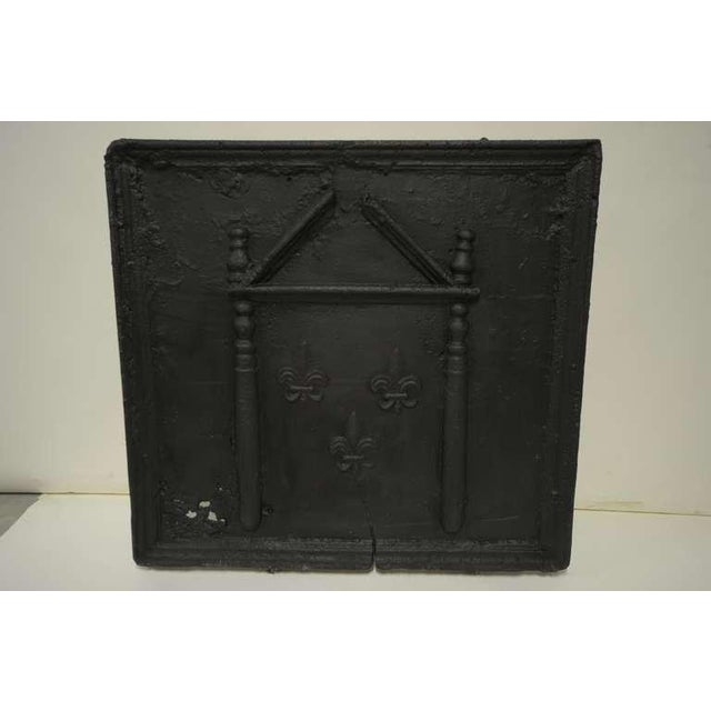 18th C. French Large Square Fireback For Sale - Image 9 of 9