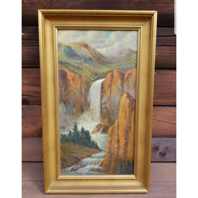 1910s Early 20th Century Landscape Oil Painting, Framed For Sale - Image 5 of 5
