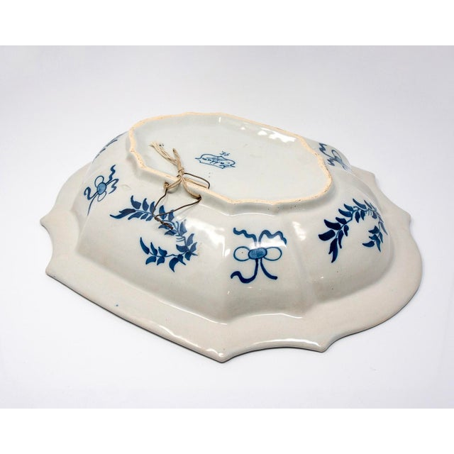 Blue and White Delft Platter With Chinoiserie Design For Sale - Image 9 of 10
