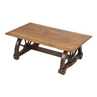 1950s American Western Ranch Oak Table For Sale