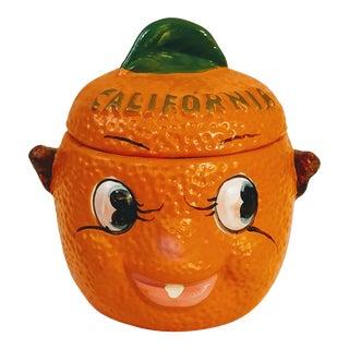 Anamorphic California Orange Sugar Bowl For Sale
