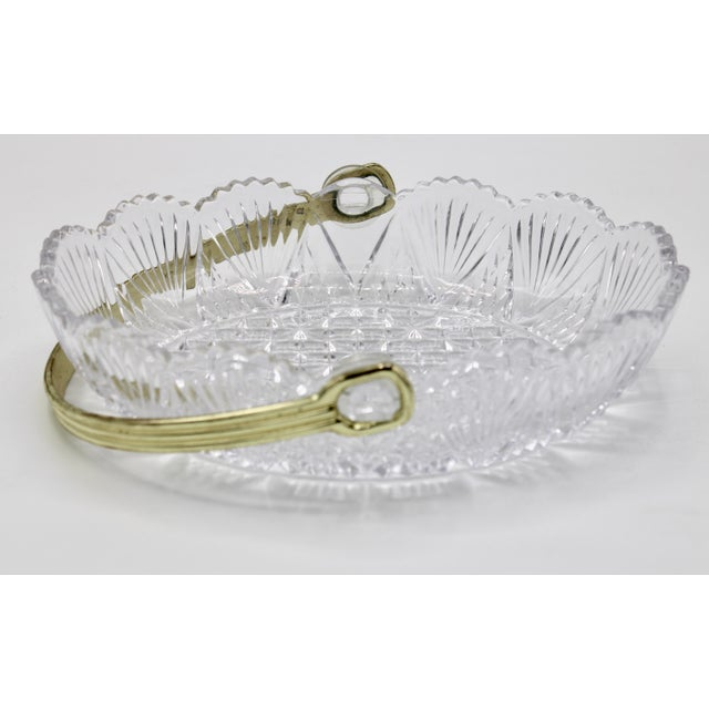 Vintage French Crystal Dish For Sale - Image 9 of 9