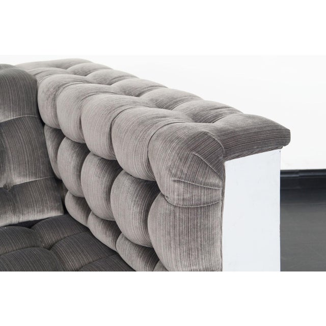 """Vintage Chrome """"Cityscape"""" Sofa For Sale In Los Angeles - Image 6 of 9"""