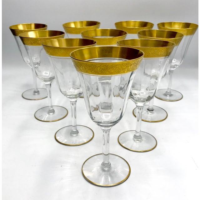 1930s Vintage Tiffin Franciscan Rambler Rose Crystal Stemware - Set of 26 For Sale - Image 4 of 8