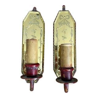 1920's Mercury Glass Sconces For Sale