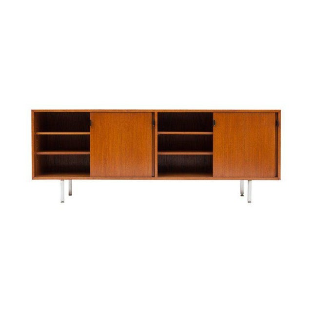1950s Modern Credenza in Teak by Florence Knoll, Manufactured by De Coene, 1950s For Sale - Image 5 of 11