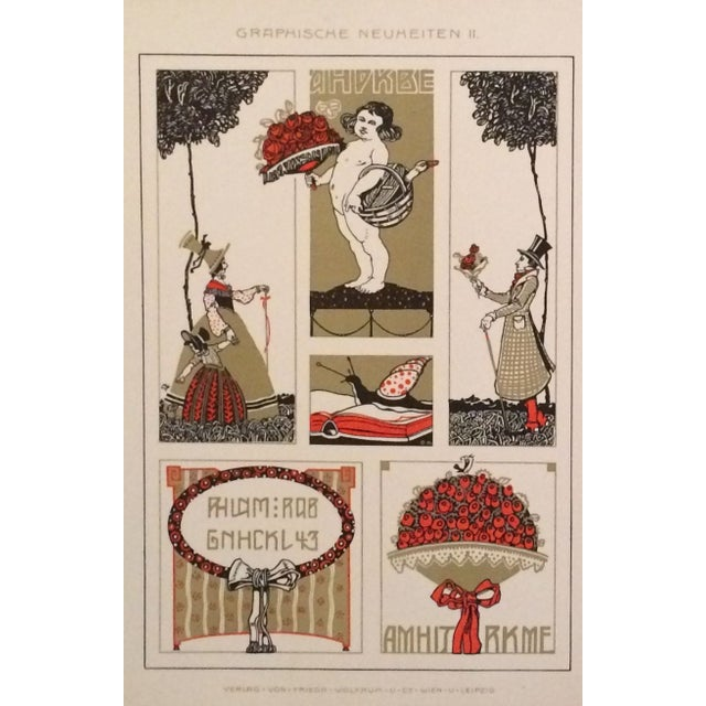 A pair of circa 1900 German decorator prints - angels and ladies. Note from seller: We recently purchased these plates...