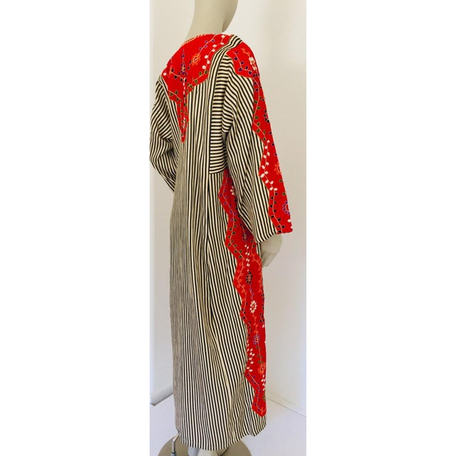 Late 20th Century Vintage Middle Eastern Ethnic Caftan, Kaftan Maxi Dress For Sale - Image 5 of 13