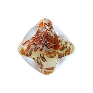 Fall Tutti Frutti Vintage Murano Glass Bowl For Sale