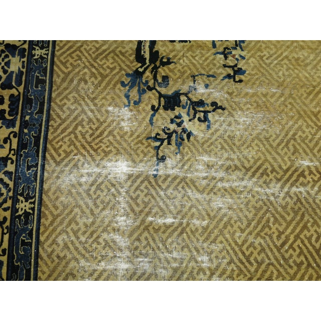 Overisze Antique Chinese Rug, 13'3'' X 17'9'' For Sale - Image 10 of 13