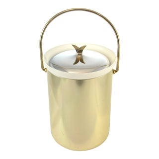 Mid-Century Modern Gold Finish Ice Bucket For Sale