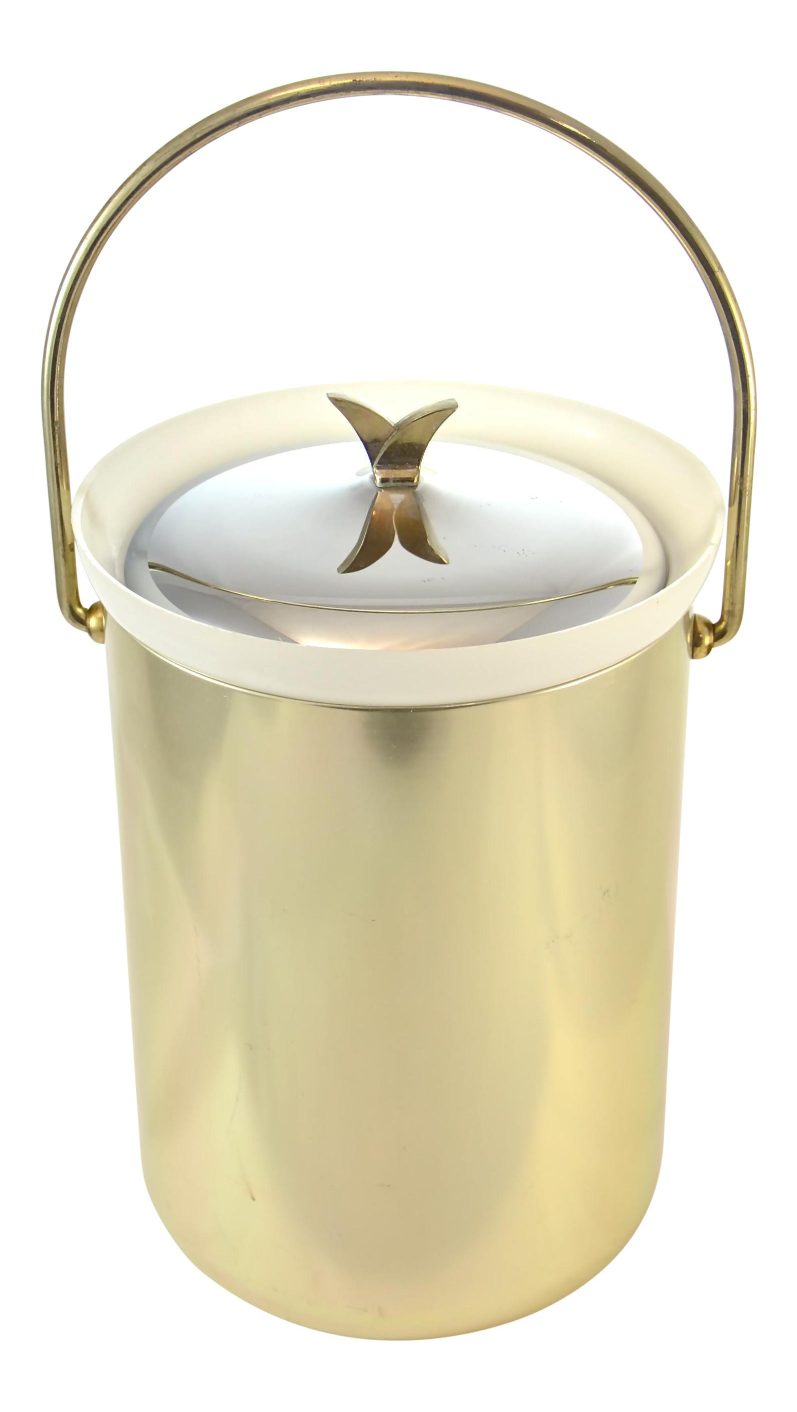 Mid Century Modern Gold Finish Ice Bucket