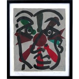 """Image of Peter Keil Abstract Painting, """"Miro Face"""", Paris, 1975 For Sale"""