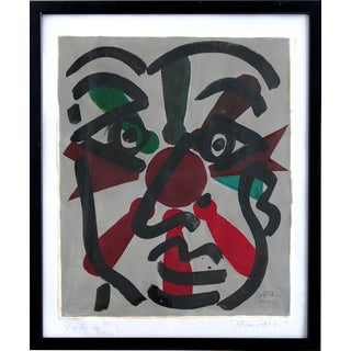 """Peter Keil Abstract Painting, """"Miro Face"""", Paris, 1975 For Sale"""