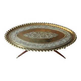 1960s Moroccan Coffee Tray Table For Sale