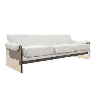 Milo Baughman Designed Smoked Lucite Sofa