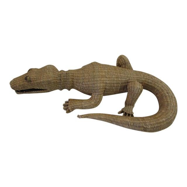 Wicker Crocodile Figure by Mario Torres - Image 1 of 5