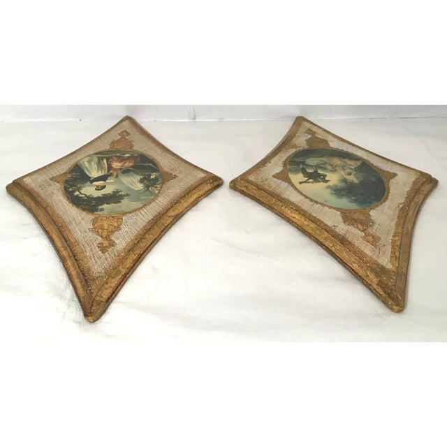 Vintage Italian Florentine Wall Hangings - A Pair For Sale In Dallas - Image 6 of 9