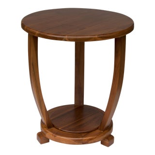 Round Teak Accent Table