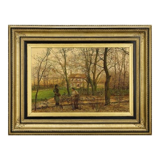 Autumn Garden Walk By John Atkinson Grimshaw For Sale