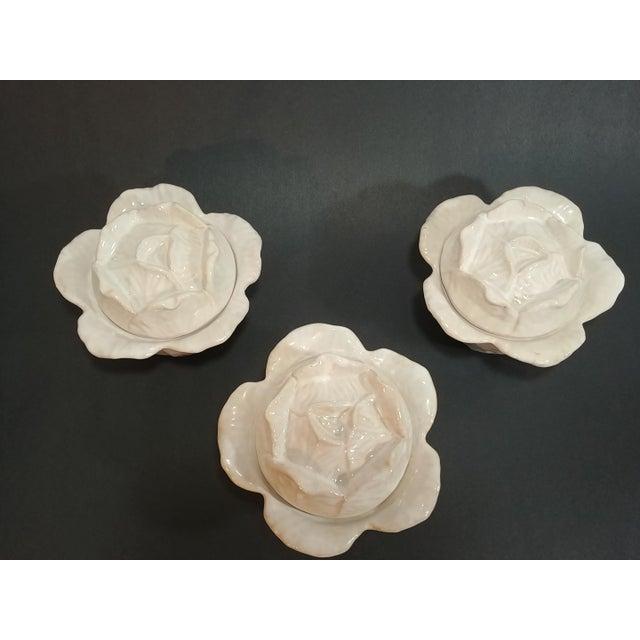 Ceramic Mid-Century Italian Ceramic Cabbage Bowls - Set of 3 For Sale - Image 7 of 9