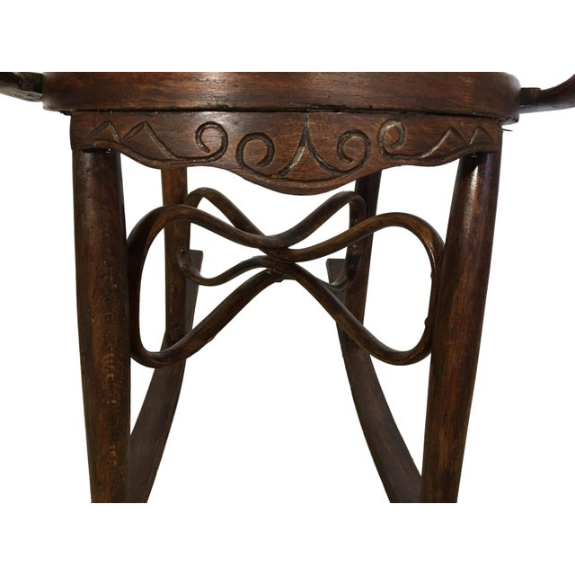19th Century Bentwood Rocking Chairs in Style of Jacob & Josef - A Pair For Sale In Miami - Image 6 of 7
