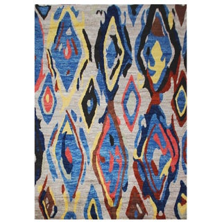 Aara Rugs Inc. Moroccan Inspired Hand-Knotted Rug - 8′1″ × 9′6″ For Sale