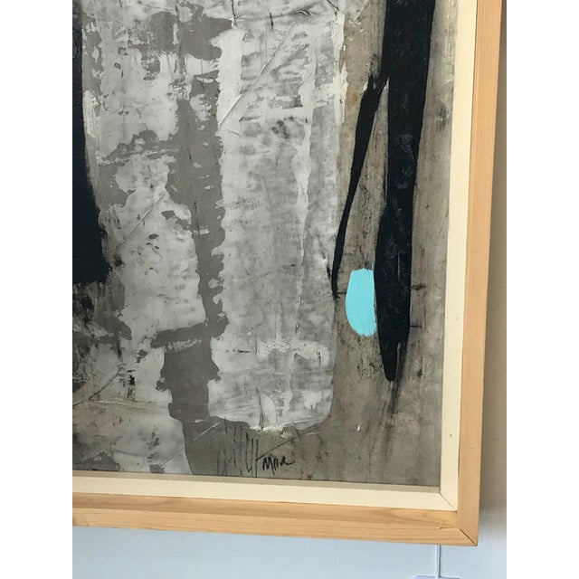 Abstract 1960s Vintage Graham Harmon Abstract Black and White Paintings - a Pair For Sale - Image 3 of 9