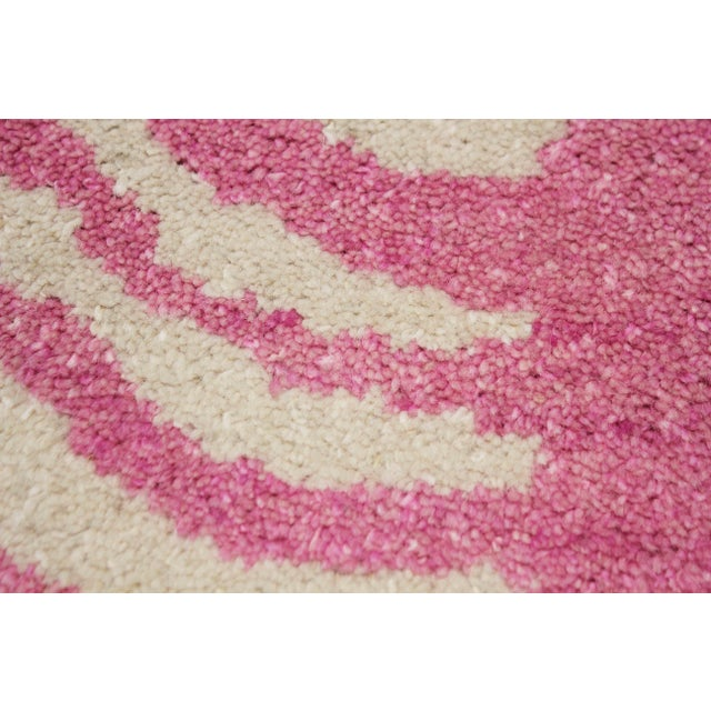 2020s 2020 Aara Rugs Pink Handknotted Wool Rug For Sale - Image 5 of 9