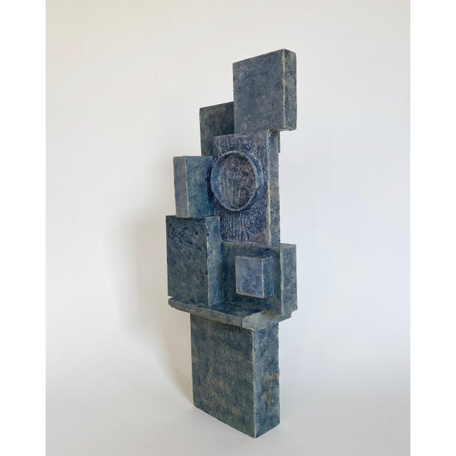 Abstract Mid-Century Modernist / Cubist Abstract Sculpture For Sale - Image 3 of 6