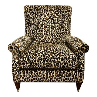 Pearson Co. Transitional Leopard Print Club Chair For Sale