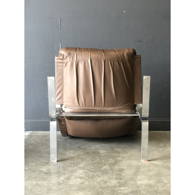 Westnofa Siesta Leather Chair & Ottoman For Sale - Image 9 of 10