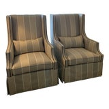 Image of Bernhardt Wing Chairs - a Pair For Sale