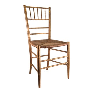 Victorian Faux Bamboo Opera Chair For Sale