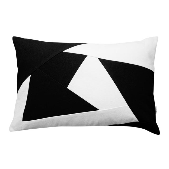 Black & White Geometric Design Throw Pillow Chairish