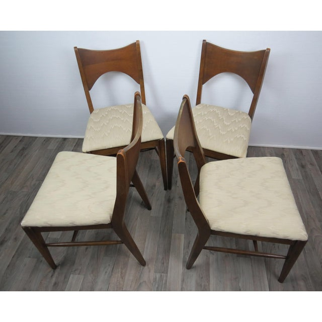 Mid 20th Century Mid-Century Modern Walnut Bowtie Dining Chairs by Lenoir - Set of 4 For Sale - Image 5 of 13