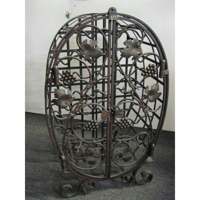 Custom Wrought Iron 24-Bottle Wine Cage - Image 2 of 10