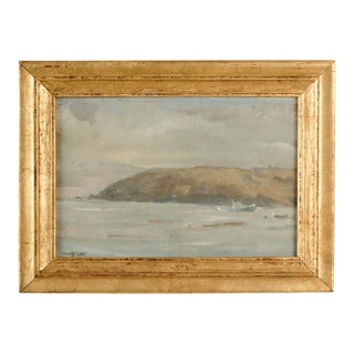 """""""Misty Morning"""" Contemporary Coastal Landscape Oil Painting by Theodore Tihansky, Framed For Sale"""